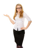 Girl Representing Your Product Royalty Free Stock Photography