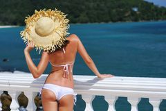Girl on resort Stock Images