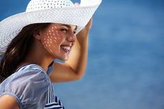 Girl at resort Stock Image