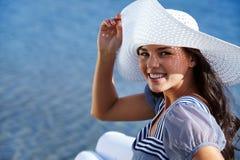 Girl at resort Stock Photography