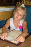 Girl in the restaurant Stock Photo