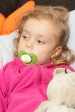 Girl resting Royalty Free Stock Photography