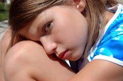 Girl resting 3 stock photo