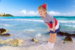 Girl resting on the beach. Stock Photography