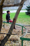 Girl resting on a bench 2 Royalty Free Stock Photos