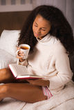 Girl resting with book Royalty Free Stock Photos