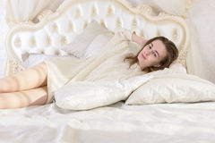 Girl resting Royalty Free Stock Photo