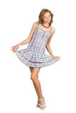 Girl in retro dress Royalty Free Stock Photography