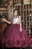 Girl in retro dress Royalty Free Stock Photo