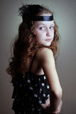 Girl at the retro style Royalty Free Stock Photos