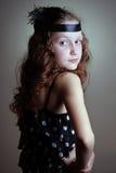 Girl at the retro style Royalty Free Stock Photos