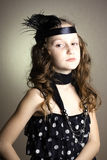 Girl at the retro style Stock Photography