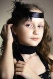 Girl at the retro style Stock Photos