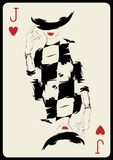 The girl in retro style. Playing card Stock Photo