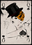 The girl in retro style. Playing card. Poker Stock Image