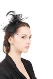 Girl with ribbon and hairstyle. Stock Image