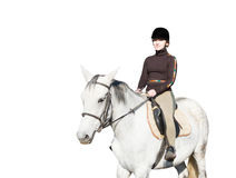 Girl rider and horse Royalty Free Stock Image