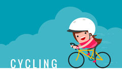 Girl riding bicycle. Royalty Free Stock Image