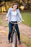 Girl riding bike Royalty Free Stock Images