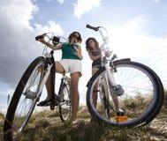Girl riding her bike Royalty Free Stock Image