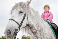Girl riding horse Royalty Free Stock Photos