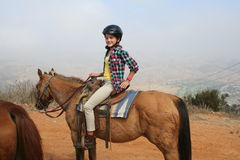 Girl Riding Horse Royalty Free Stock Photography