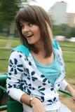 Girl Riding On Carousel Royalty Free Stock Image