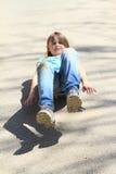 Girl riding a skateboard Royalty Free Stock Photos
