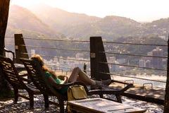 Girl at the Rio de Janeiro Stock Image