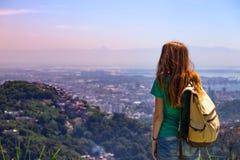 Girl at the Rio de Janeiro Royalty Free Stock Photos