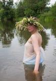Girl in river Stock Photos