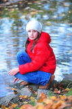 The girl at the river Royalty Free Stock Photography