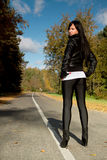 Girl and the road Stock Photography