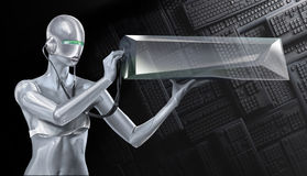 Girl robot Stock Images