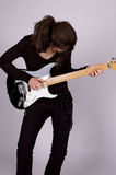 Girl Rock Stock Photography