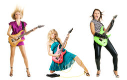 Girl rock band Royalty Free Stock Photography