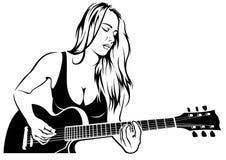 Free Girl Rock Guitarist Stock Images - 158054474