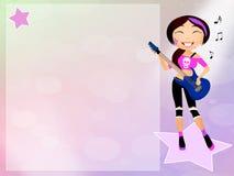 Girl rock Stock Photo