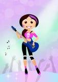 Girl rock Stock Image