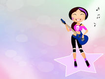 Girl rock Royalty Free Stock Images