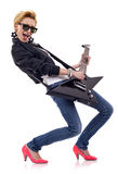 Girl rock star Royalty Free Stock Image