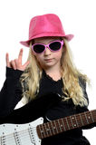 Girl Rocks Stock Photography
