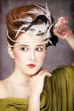 Girl with Rococo hair style Royalty Free Stock Photo