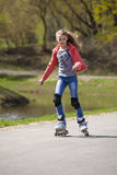 Girl roller Royalty Free Stock Photos