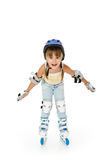 Girl roller Royalty Free Stock Photo