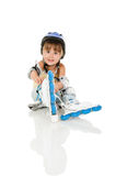 Girl roller Royalty Free Stock Image