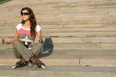girl roller Στοκ φωτογραφίες με δικαίωμα ελεύθερης χρήσης