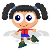 Girl with roller blades Stock Image