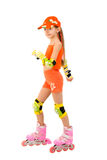The girl on roller skates Royalty Free Stock Image