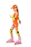 The girl on roller skates Royalty Free Stock Image